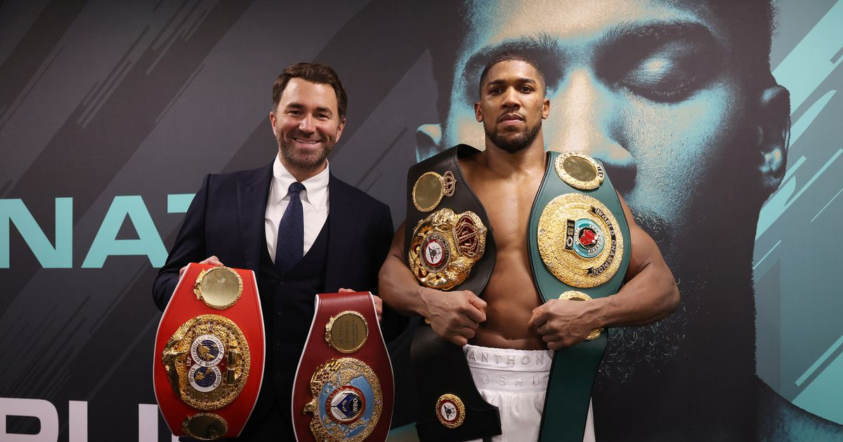 Anthony Joshua could fight Tyson Fury with no world titles on the line