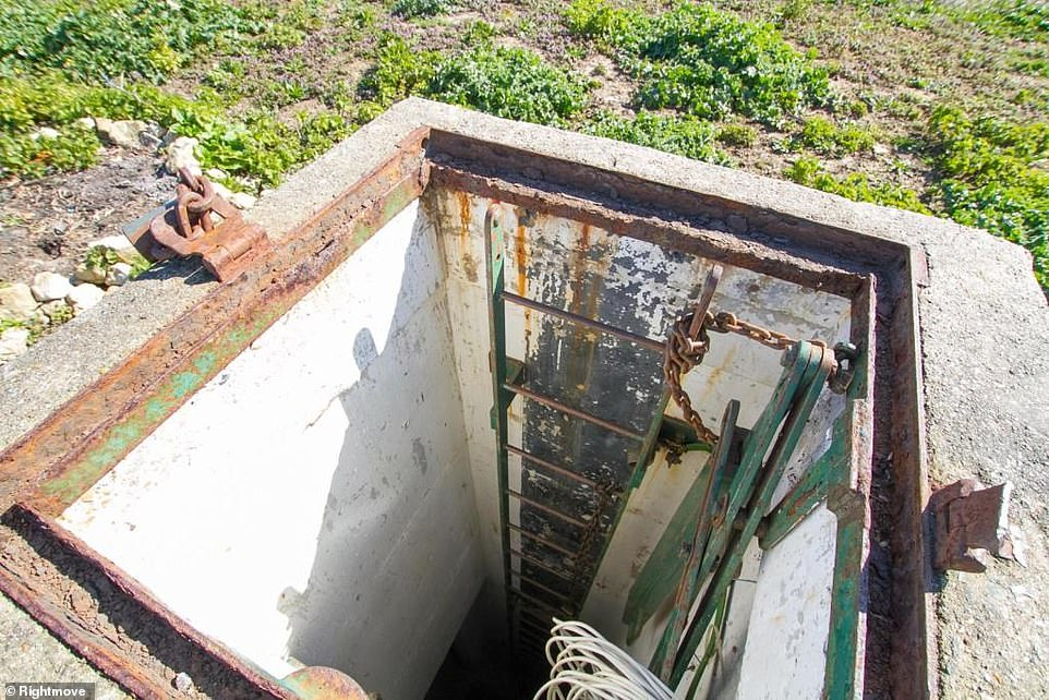 The bunker has a monitoring post with rooms several metres underground, and was built by the Ministry of Defence in 1971