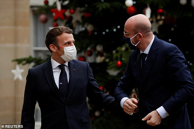 MONDAY: Macron welcomes European Council President Charles Michel to the palace