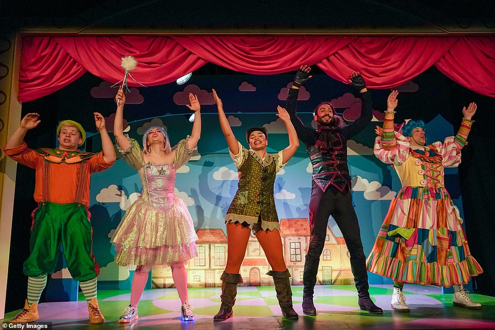The Kings Theatre in Portsmouth announced that it was postponing all performances of its Dick Whittington pantomime from Friday into the New Year. Above, cast members perform Jack and the Beanstalk at York Theatre Royal on December 2 in York