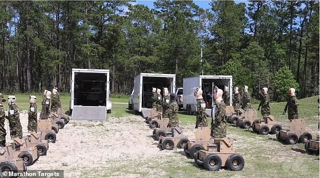 Commanders say they observed a 104 percent increase in combat among soldiers within just 24 hours of using the robotic targets