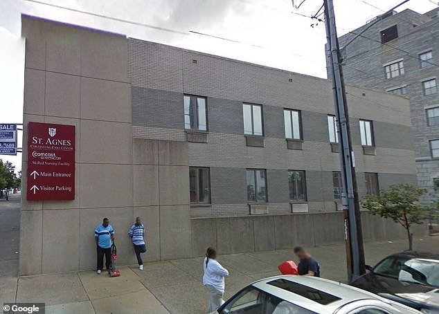 The incident happened in an alley near what was St Agnes Hospital (pictured) before it was demolished. Hicks heard the woman screaming and ran to help her