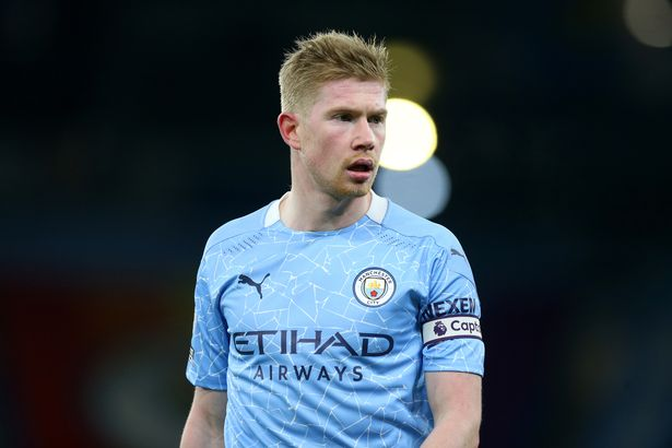 Man City's Kevin De Bruyne was also included in the all-star line-up