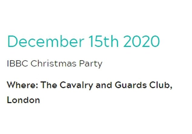 The event Ellwood attended was billed by organisers as a 'Christmas Party'