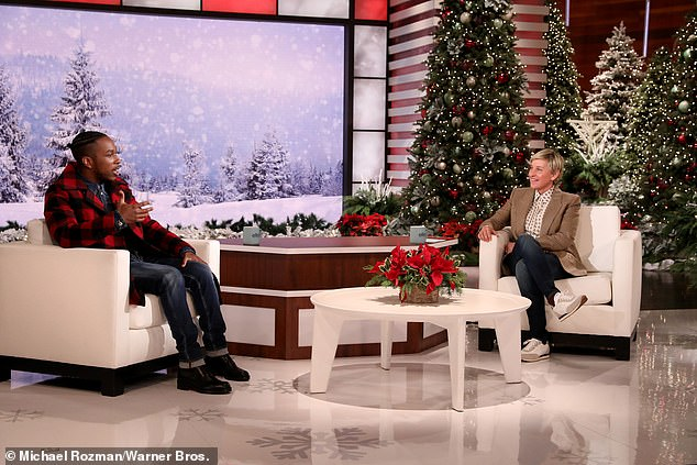 The Hamilton star appeared in a socially-distanced segment with Ellen DeGeneres a day before she registered a positive test for COVID-19
