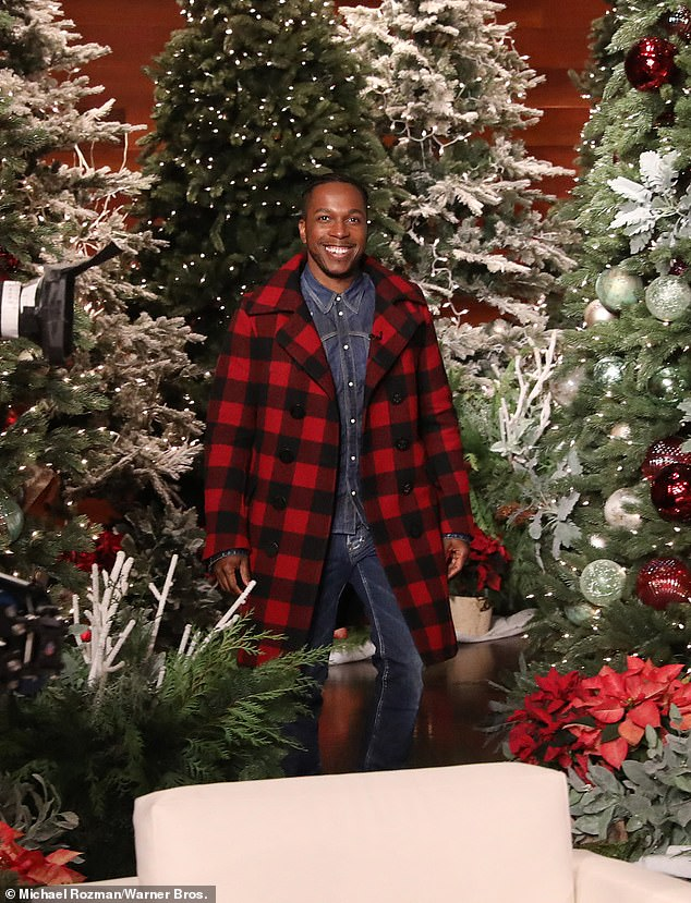 The talented performer was a guest amid Ellen's12 Days of Giveaways series