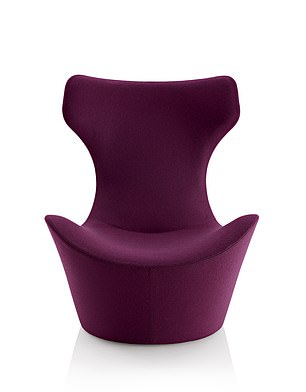 Naoto Fukasawa's butterfly-inspired Grande Papilio Swivel Lounge Chair (£2,869, chaplins.co.uk)
