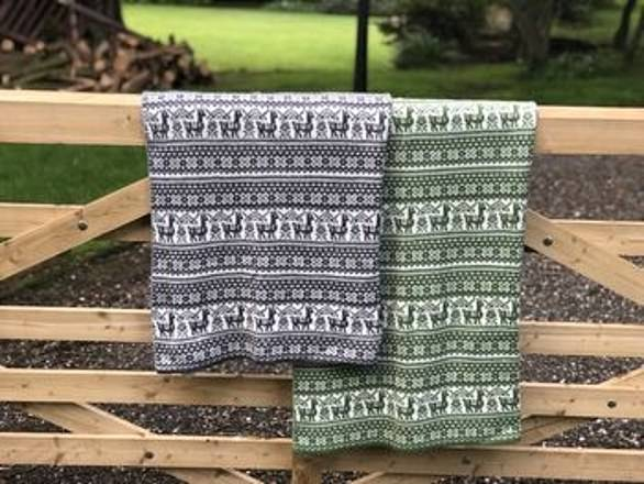 Yuletide luxury: You could use thisAlpaca Fair Isle Throw, £99.50, all year round