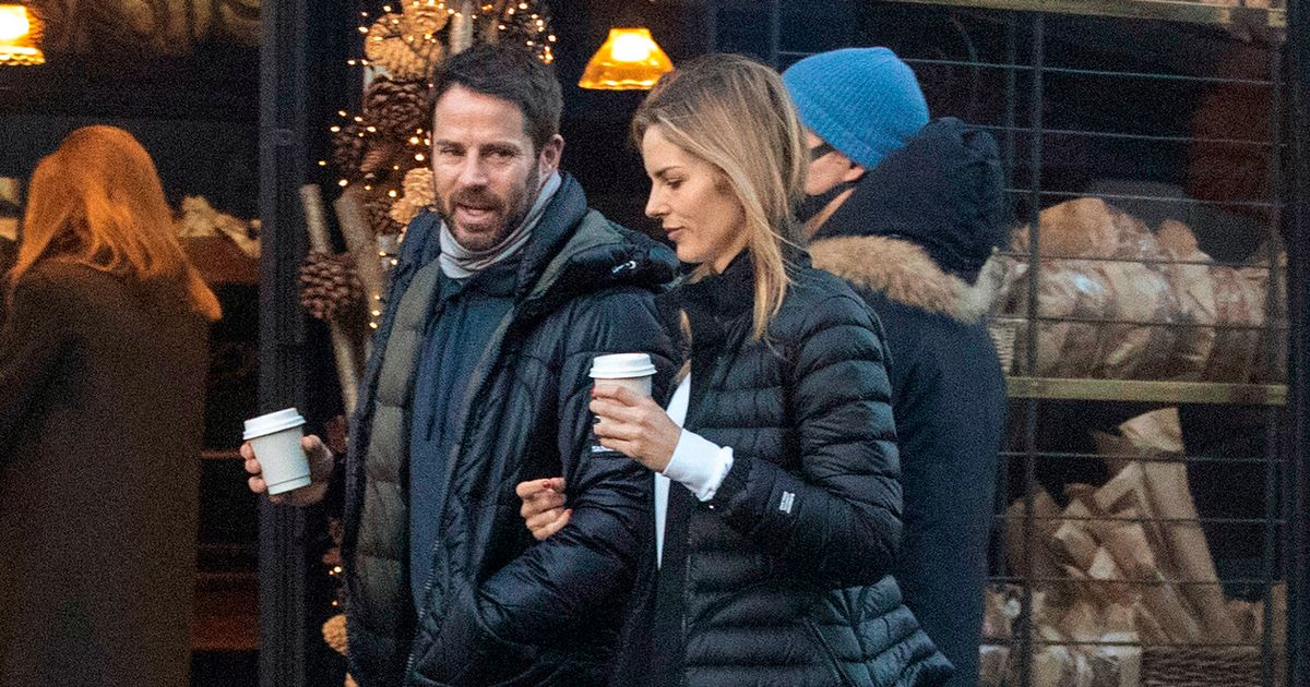 Jamie Redknapp twins with girlfriend Frida in matching outfits on cosy walk
