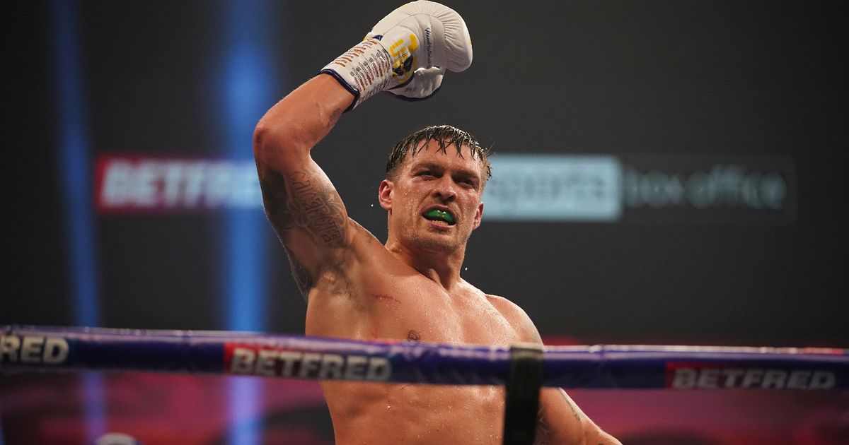 Oleksandr Usyk hints he will step aside to allow Anthony Joshua vs Tyson Fury