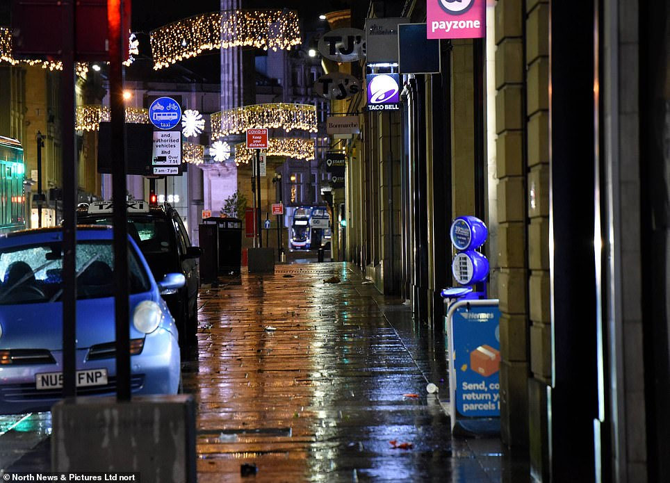 The same street had no revellers in 2020