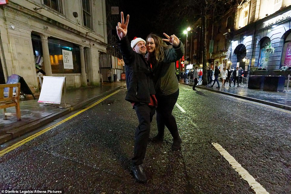 Two people posed for a picture on the road in Swansea last year