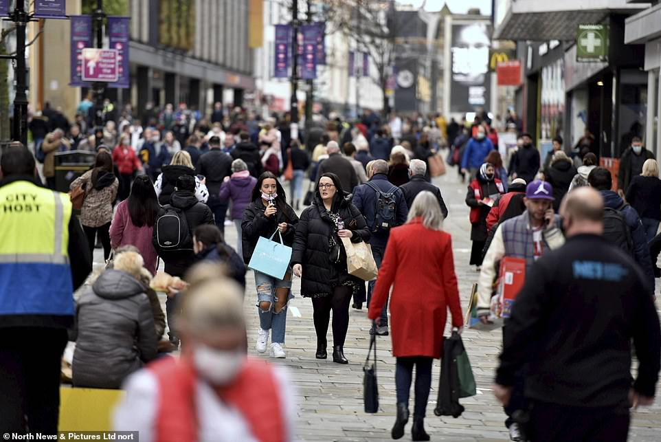 Newcastle'sNorthumberland Street was packed with shoppers eager to get a Christmas bargain as the big day draws near