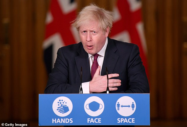 Boris Johnson said 350,000 people had already been vaccinated and there are hopes that figure will hit half a million in the next day or two