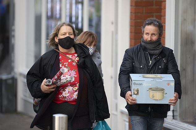 Shoppers were undeterred by talk of new Covid-19 strain, said to be 70 per cent more transmissible than the original virus