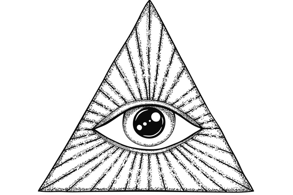 Eye within a triangle