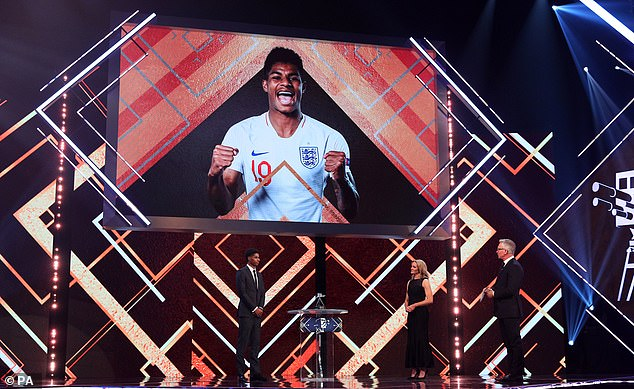 Rashford was awarded an MBE in October for services to vulnerable children during Covid-19