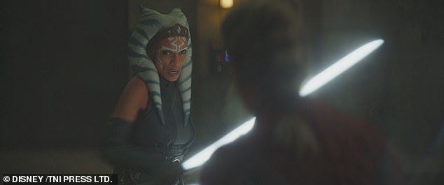 Ahsoka:  A few episodes prior, when fans got their first look at a live-action Ahsoka Tano (Rosario Dawson), she told The Mandalorian (Pedro Pascal) to take Grogu to a temple