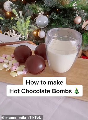 Chantel shared her simple recipe for the hot chocolate bombs (pictured)