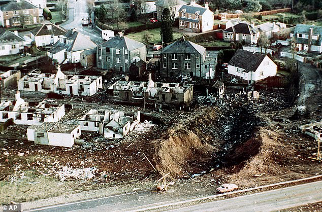 Pan Am flight 103 was en route from London to New York when it exploded, with large sections of the plane crashing into the small residential Scottish town of Lockerbie