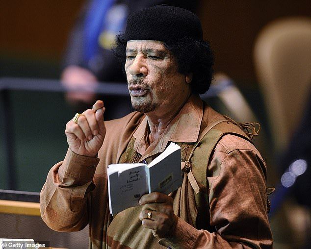 Mas'ud was a top bomb-maker for late Libyan dictator Muammar Gaddafi (pictured), reports claim. He is alleged to have assembled the device which blew up over Scotland in 1988