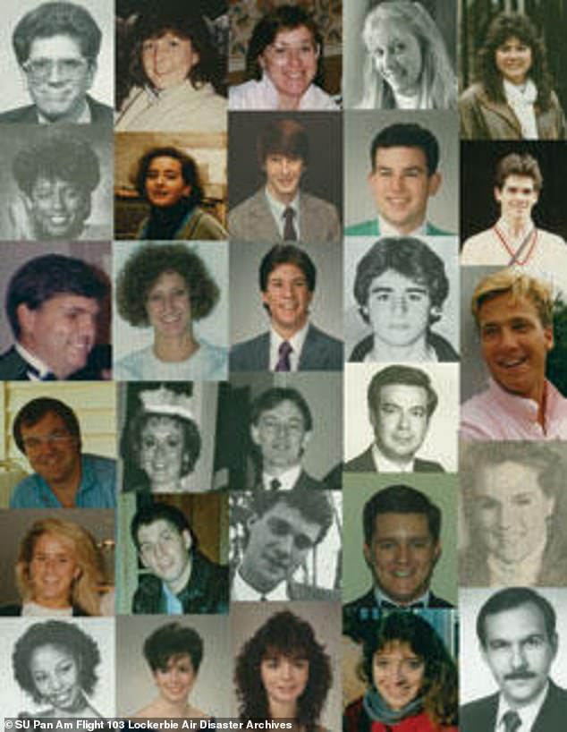 Victims, pictured, of the bombing included dozens of American college students