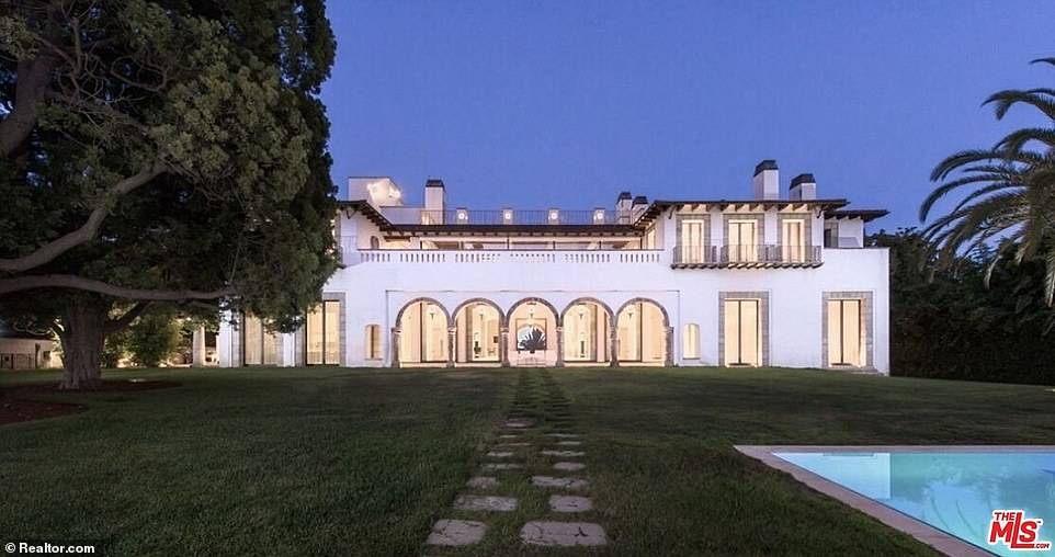 Disick's first stop in a blacked-out SUV was at a $78 million mansion on the famous South Mapleton Drive (pictured)