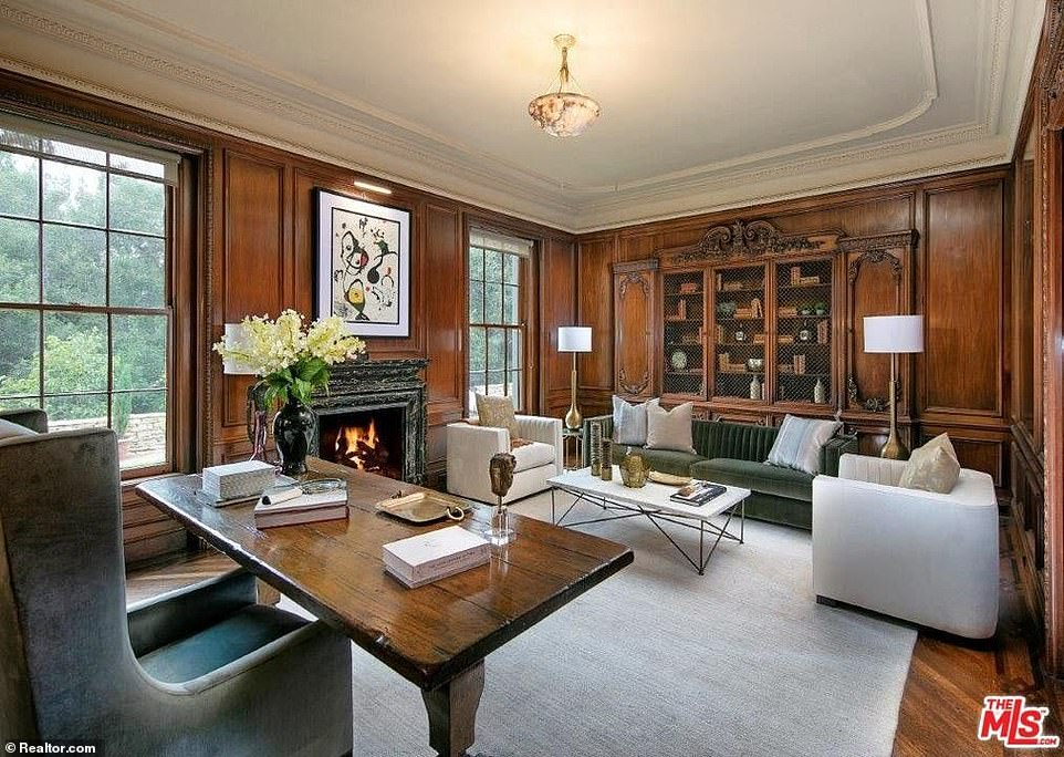 The mansion, named Owlwood, was designed by architect Robert D Farquhar in 1936 and previously owned by actor Tony Curtis and singer Cher