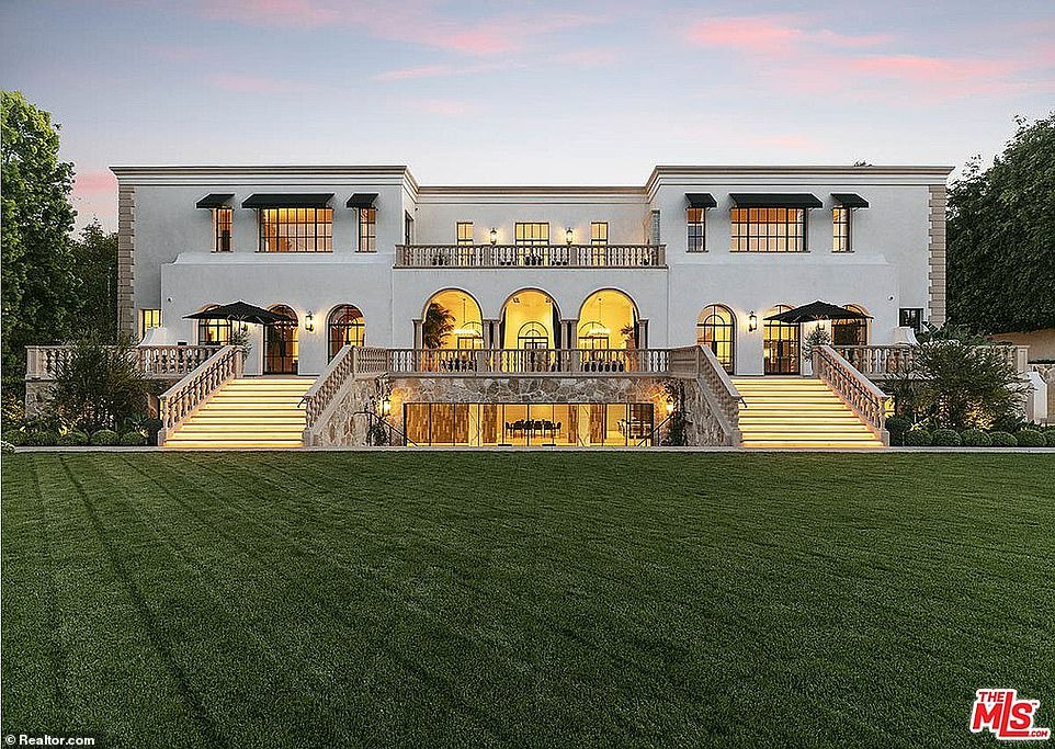 Disick's third viewing on Thursday was to 330 Mapleton in Holmby Hills (pictured)