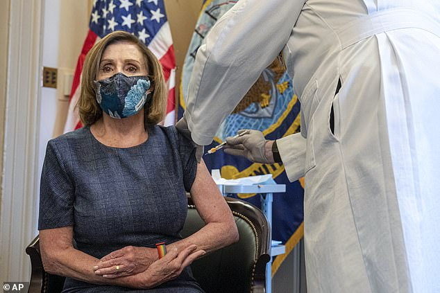 They'll follow House Speaker Nancy Pelosi, who received Pfizer's COVID-19 vaccine on Capitol Hill Friday