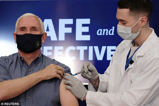 Vice President Mike Pence became the highest-ranking government official to get the coronavirus vaccine, getting the first dose Friday morning in Washington, D.C.