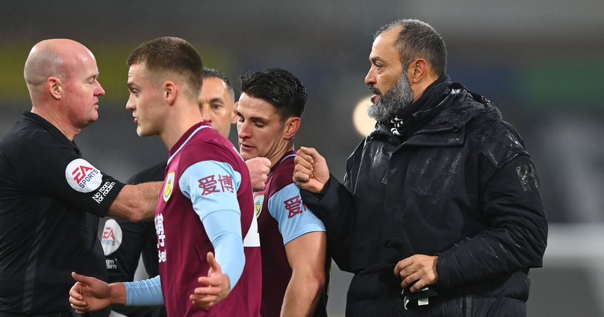 Wolves boss Nuno launches into scathing attack on ref Mason after Burnley defeat