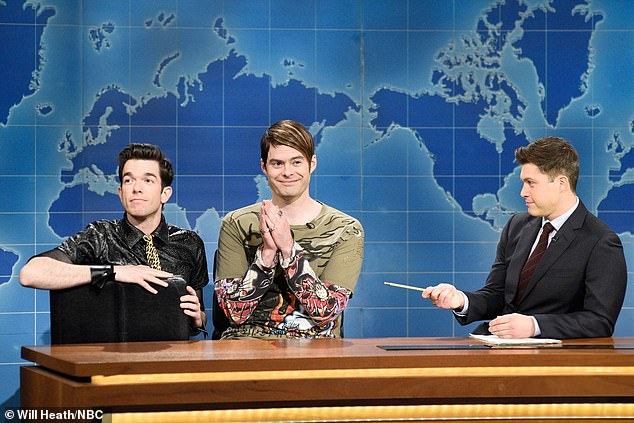 Nightlife guide: John is best known for his work on Saturday Night Live where he famously co-created the Weekend Update character of Stefon with Bill Hader (M, pictured in 2018)