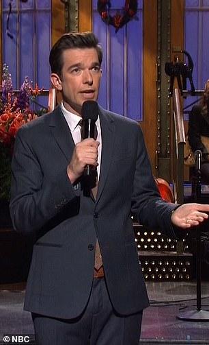 John Mulaney pictured hosting SNL on October 31