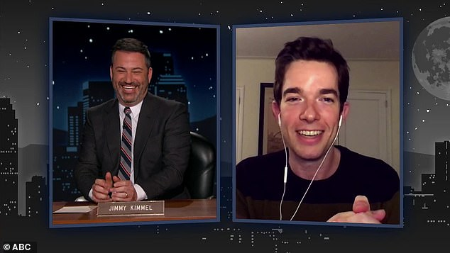 Sobriety: Mulaney appeared to be in good spirits during his December 2nd appearance on Jimmy Kimmel Live! where he admitted he was 'going totally crazy' during quarantine
