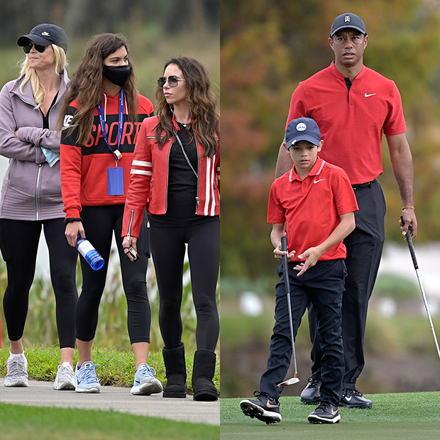 Tiger Woods and kids