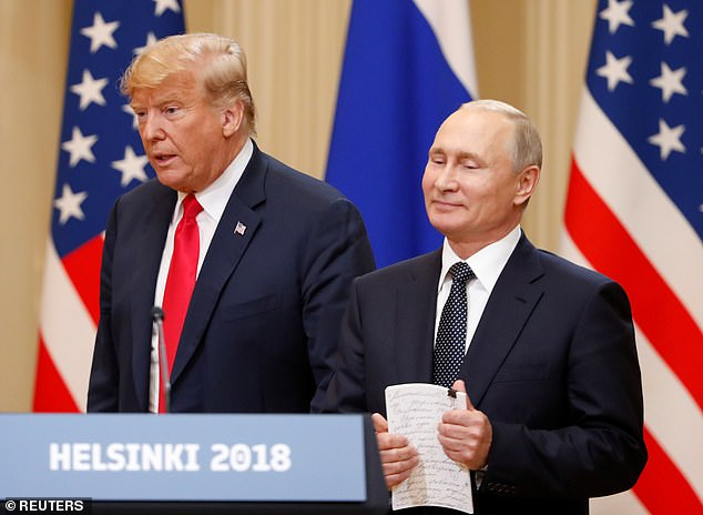President Donald Trump (pictured with Putin) sought to downplay the severity of the hack last week, tweeting without any evidence that perhaps China was responsible instead of Russia