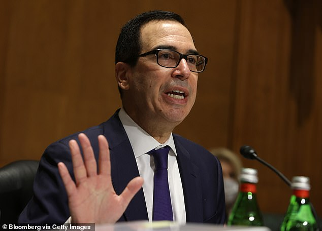 An aide to Wyden told The New York Times the department's officials indicated that Treasury Secretary Steve Mnuchin's (above) email account had not been breached