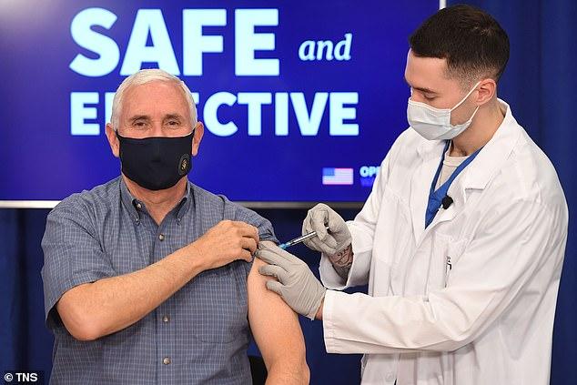 Vice President Mike Pence spoke to Turning Point USA Tuesday. He got a coronavirus vaccine Dec. 18