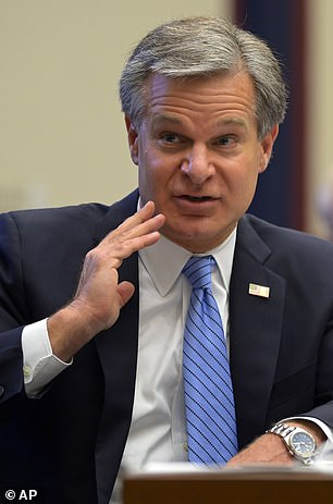 FBI Director Christopher Wray was singled out by the site