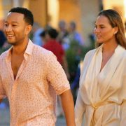 Chrissy Teigen Goes Hiking In A Plunging Black Swimsuit With John Legend During Much Needed Vacation