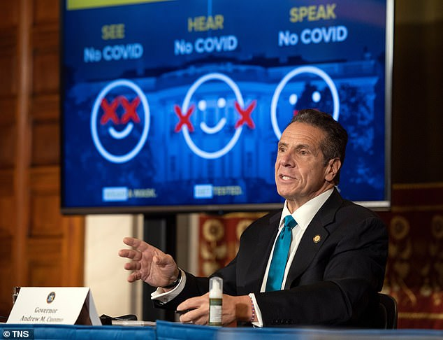 On Monday, New York Gov. Andrew Cuomo had called it 'reprehensible' and 'grossly negligent' that the federal government isn't acting to address the new strain of coronavirus circulating in the UK