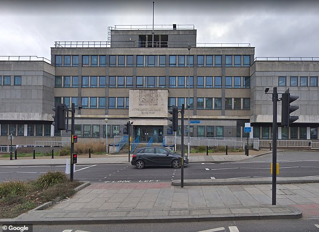 Shardi appeared at Croydon Magistrates' Court (pictured) on Monday and pleaded guilty to drink driving, driving otherwise than in accordance with a licence, driving with no insurance and criminal damage to a police cell