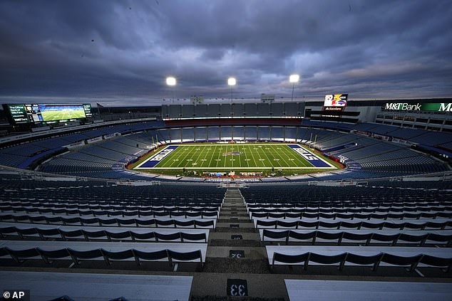 The empty Bills Stadium ten days ago before a game. It has the capacity for 71,000 fans
