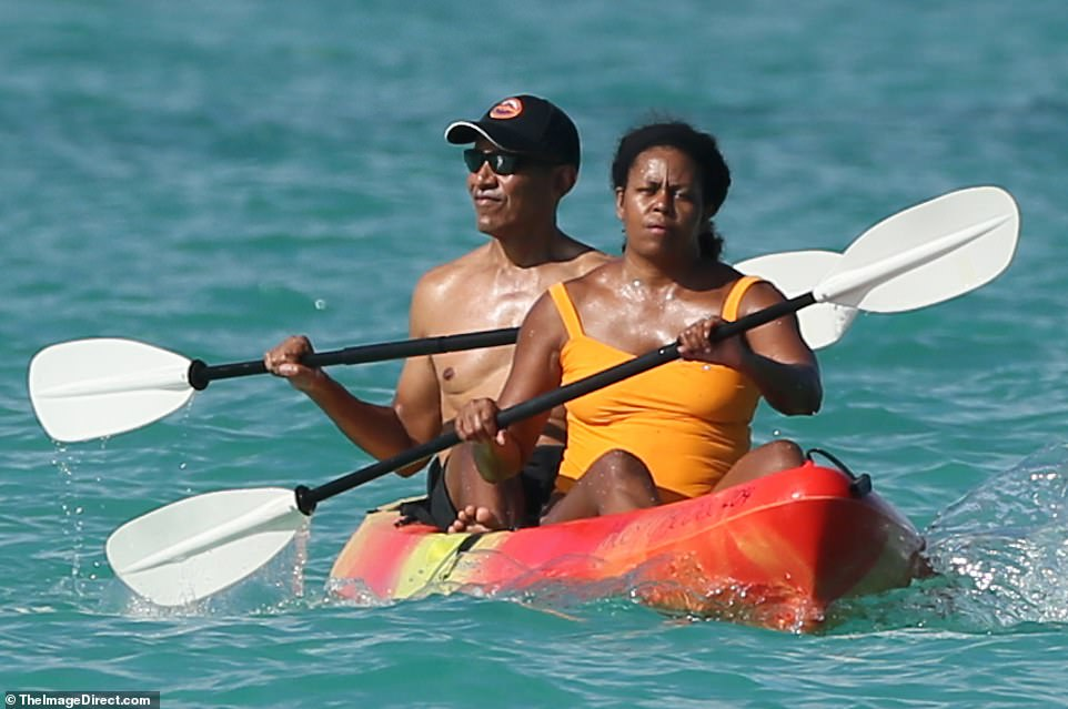 The pair have been visiting Kailua for years. It is where they spent the holidays when Barack was in office