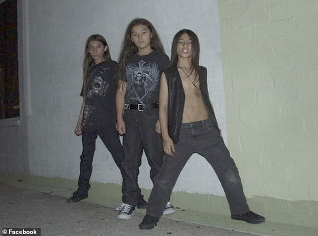 Richard and Mayumi's sons, Bradford, Ryo and Falcon, started a heavy metal band called the Heene Boyz (pictured)
