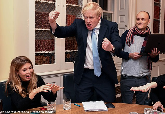 I've done it: Boris hears the result of the December 2019 General Election — and his 80-seat majority