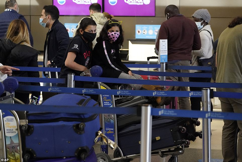 This broke the record for the most weekend travelers since the pandemic began in March (Pictured: LAX)
