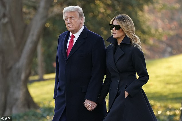 Trump left Washington D.C. for Christmas at his Mar-a-Lago resort with Melania Wednesday afternoon – less than 24 hours after releasing a video on Twitter suggesting he would veto the finally negotiated COVID-19 aid package, which is attached to a government funding bill