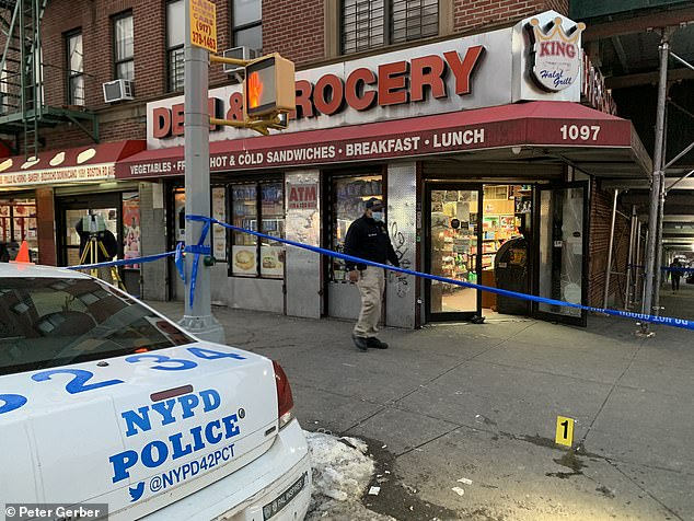 King Deli and Grocery in the Bronx was the site of a murder on Wednesday afternoon